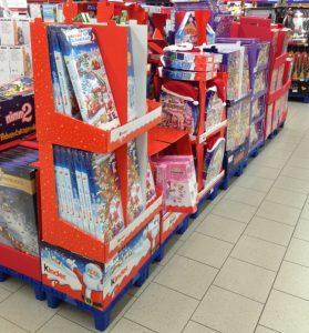 Warenhaus Konsumwelt zu Weihnachten Adventskalender