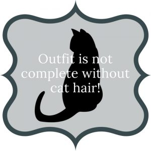 Outfit is not complete without cat hair!