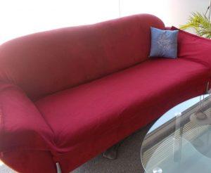 Das rote Sofa in meinem Büro